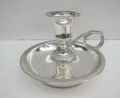 Vintage Silver Plated Chamber Stick / Candle Holder