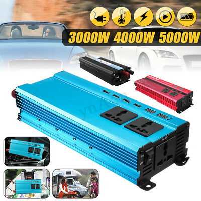 3000W/4000W/5000W Car Solar Power Inverter LED Sine Wave Converter USB Socket