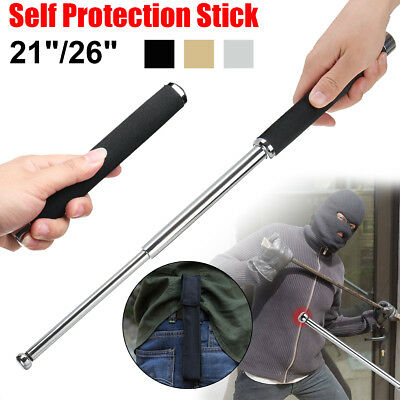 "21""/26"" Telescopic Tactical Survival Pen Self Glass Breaker Outdoor Protection"