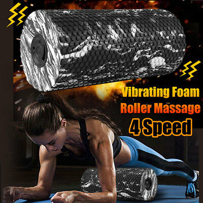 Electric Vibrating Exercise Foam Roller Massage Muscle Relax Yoga GYM Fitness AU