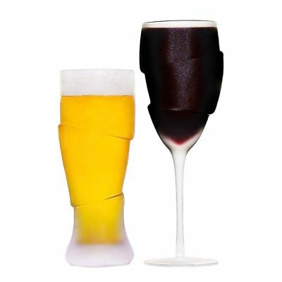 Couple of Drunks Frosted Beer & Wine Glass Drinking Glasses for Couples Novelty
