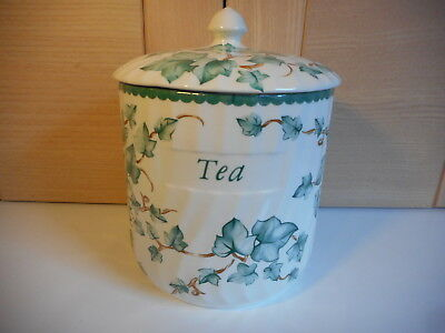 Bhs British Home Stores Country Vine Green Ivy Leaves Tea Storage Jar
