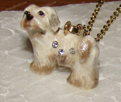HAVANESE Necklace (Pedigree Dog Collection, 3212N) Bejeweled, Baked Enamel