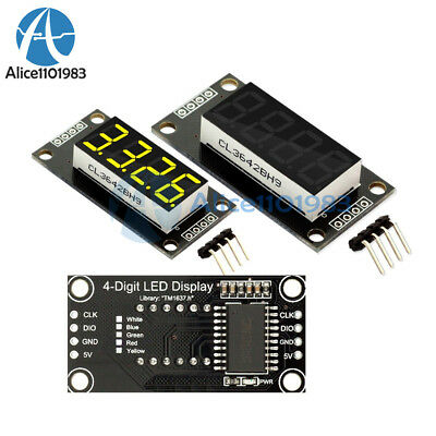 "0.36"" TM1637 7-Segment 4digit Tube LED Yellow Digital Display Module For Arduino"
