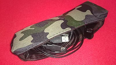 Camouflage Charging Lead & Clip Pouch For Your Xp Deus Leads ****new****