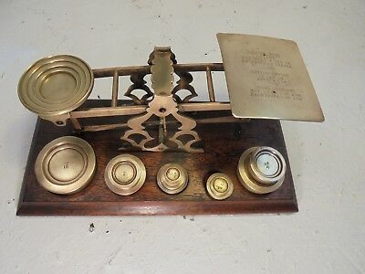 Antique Mordan Brass Postal Scales , Postage Scales Weights ref4322