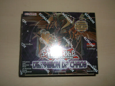 Yu-Gi-Oh! DEUTSCHES DISPLAY  DIMENSION OF CHAOS -  ERSTE AUFLAGE !!!