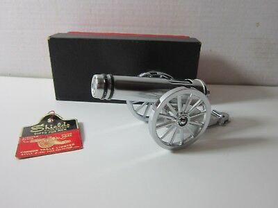Vintage Cannon Table Lighter Shields Of New York In Box Tags Estate Find