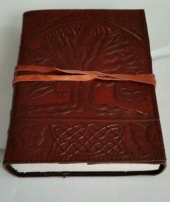 """Leather Journal SACRED OAK TREE with Leather Cord 5""""×7"""" 240 pages Unlined"""