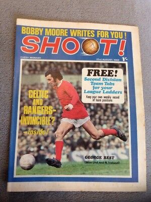 SHOOT FOOTBALL MAGAZINE 23rd August 1969 Leeds United Keith Weller Etc