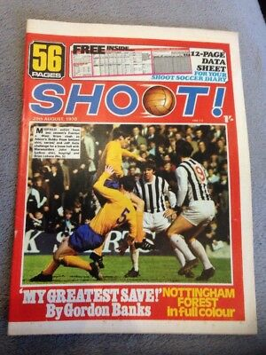SHOOT FOOTBALL MAGAZINE 29th August 1970 Nottingham Forest Trevor Swift Etc