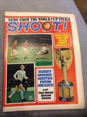 SHOOT FOOTBALL MAGAZINE 27th June 1970 Tony Brown Etc
