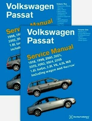 VW Passat 98 to 05 Bentley #VP05 Printed 2 Book Set Service Manual FREE SHIP US