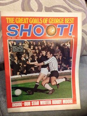 SHOOT FOOTBALL MAGAZINE 23rd May 1970 Ken Beamish Etc
