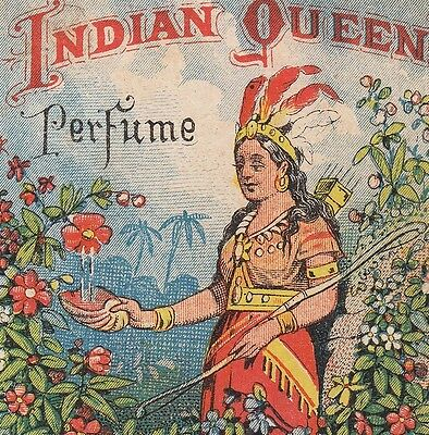 Indian Queen Perfume Chinese Ching Chong Clothes Cleaner Philadelphia Trade Card