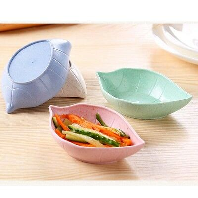 Leaves Shape Cute food set Wheat Straw baby dish Children 's Rice Bowl Plate New