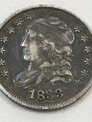 1833 Bust Half Dime Sharp Vf/xf Coin Very Original ~ Havalook!
