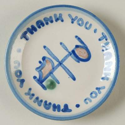 M A Hadley COUNTRY SCENE BLUE Thank You Coaster 10084737