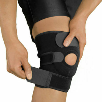 Hot Black Neoprene Adjustable Open Knee Patella Tendon Support Brace Sleeve