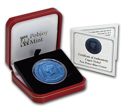 ASCENSION ISLAND Two Pence Blue Crown 2015 Mint Box & CoA