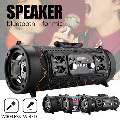 Portable Wireless Bluetooth Speaker Stereo Subwoofer TF MIC FM Radio AUX MP3 USB
