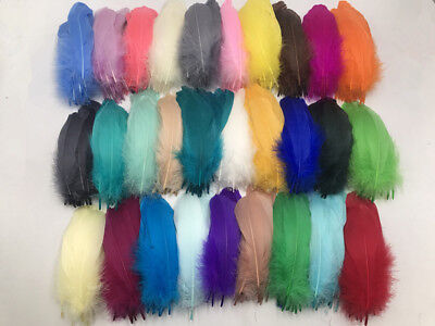 Wholesale 25-100 pcs beautiful Natural goose feathers 12-18cm / 5-7inches DIY