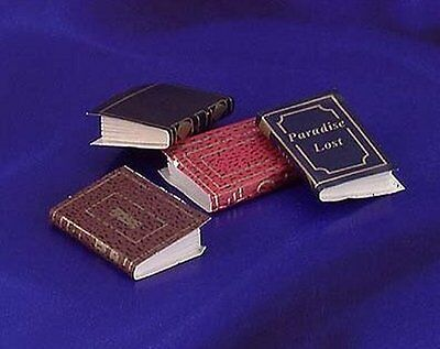 Miniature Dollhouse Set of 4 Books 1:12 Scale New