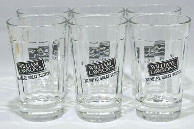 WILLIAM LAWSON'S whisky 6 verres tumbler No rules, great scotch neuf PROMO !!