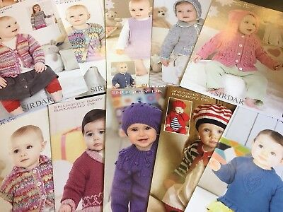Sirdar DK Baby / Girls Patterns - Pack of 10 various patterns