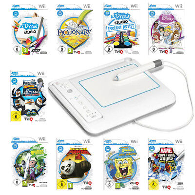 Nintendo Wii Best UDraw Studio   Game Tablet  Spongebob  Disney Prinzessin