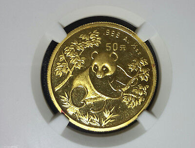 1992 50Y Yuan 1/2 ounce Gold China Panda Rare NGC MS62