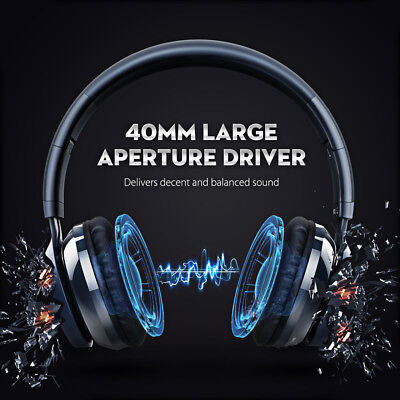 MPOW Bluetooth Wireless Headphones On Ear Headset Mic Handsfree Long Standby