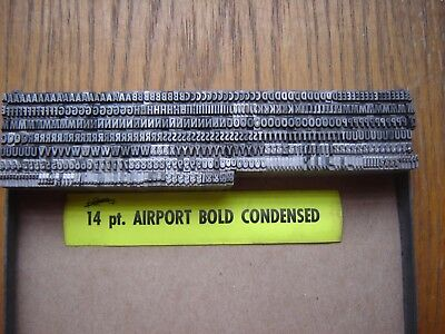 "Letterpress Metal Type  "" Airport Bold Condensed ""  14 Point"