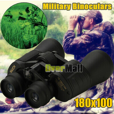 180x100 Zoom Day Night Vision Outdoor Travel HD Binocular Hunting Telescope+Case