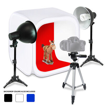"Lusana Studio Table Top 24"" Photography Photo Studio Photo Box Light Stand Kit"