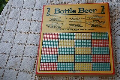 Vintage Hamilton Punch Board unpunched 1000 punches, 2 Cent Bottle Beer
