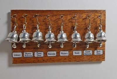 Dekorationen für Puppenstuben & -häuser Dolls House Miniature mahogany Set of Servants Bells Downton Abbey Victorian