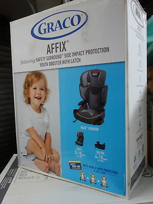 Graco Affix Highback Booster Seat With Latch System Raze Fashion * NEW