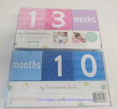 Baby Photo Prop Blocks for Days, Weeks, Months & Years - Pink or Blue