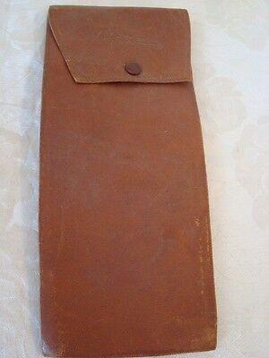 Antique Victorian Edwardian Leather Collar Holder Case Pouch As Found TLC Lot M