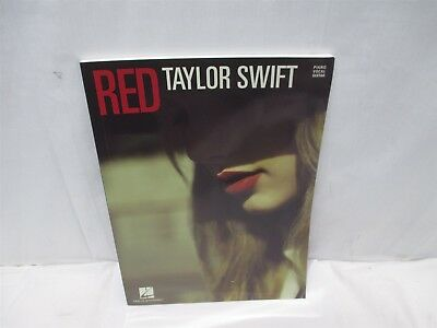 RED NEW BOOK A7 TAYLOR SWIFT PIANO//VOCAL//GUITAR PVG SONGBOOK
