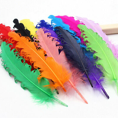 wholesale! 20-100pcs beautiful curly goose feathers 6-8 inches / 15-20cm