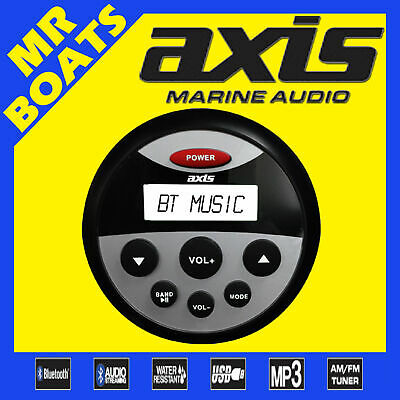 AXIS ✱ MA1202 ✱ Marine Waterproof AM/FM Radio MP3 Bluetooth Music Player Boat