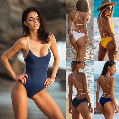 Sexy Women's One-piece Swimsuit Swimwear Push Up Monokini Bathing Suit Bikini