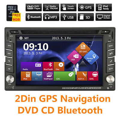 Universal 7 Colors GPS HD Car Stereo DVD CD Player FM Bluetooth Auto Radio iPod