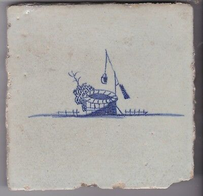 Delft Tile c.  18th - 19th  century   ( T 45)   Well