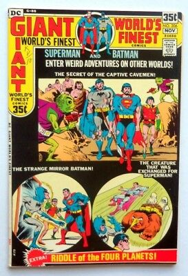 World's Finest Comics #206 1971 Superman  64 Page Giant Near Mint White Pages