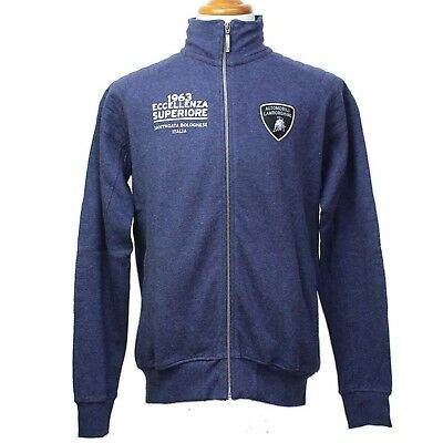 0ffe839644147 SWEATSHIRT Full Zip Automobili Lamborghini Sportscar Le Mans 63 Navy NEW!  Medium