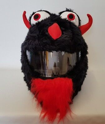 Black Devil Funny Heeds Crazy Crash Helmet Cover