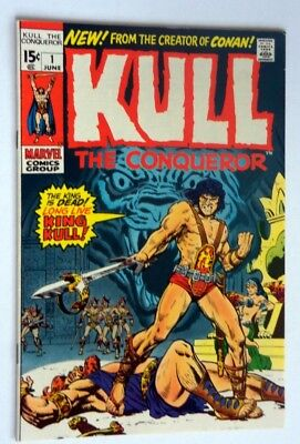 Kull The Conqueror #1 Vf-Near Mint 1971 Marvel Comic Origin Kull White Pages